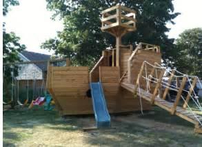 Playground Set For Backyard Build A Pirate Ship Playhouse Kids Backyard Toys