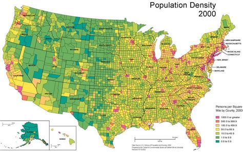 map of population density united states usa map