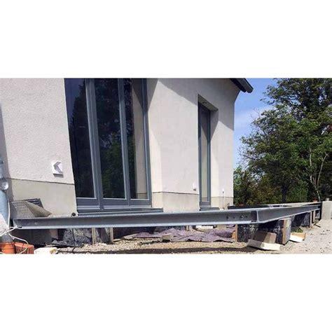 stahl überdachung terrasse terrasse 4m 5m unterkonstruktion stahl verzinkt