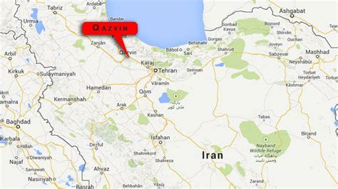 qazvin iran map explosion in iran could be nuclear related