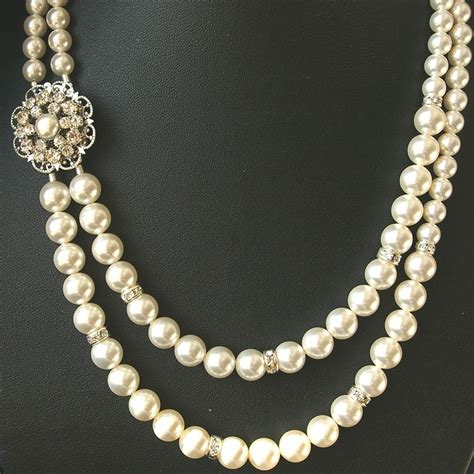 pearl for jewelry pearl bridal necklace vintage wedding jewelry by