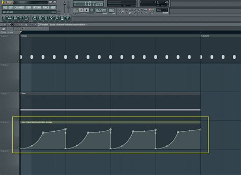 volume envelope pattern fl studio bass channel volume automation envelope how to make