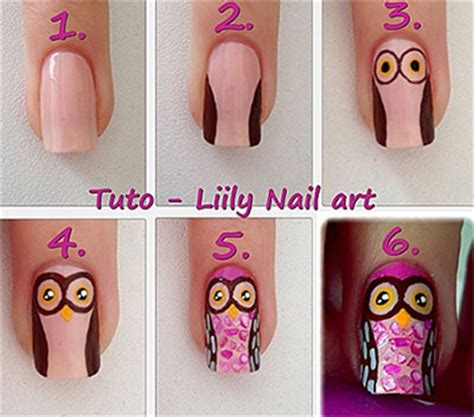 easy nail art step by step for beginners 10 easy step by step owl nail art tutorials for