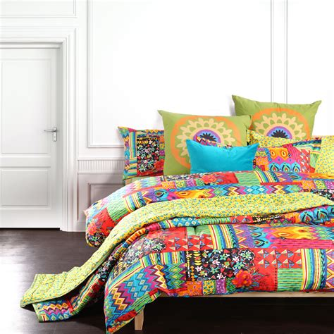 colorful comforter sets king bohemian exotic bedding colorful modern duvet cover