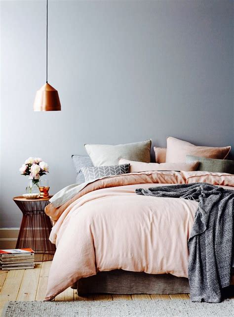 peach and gray bedroom bedroom home sweet home pinterest bedrooms gray