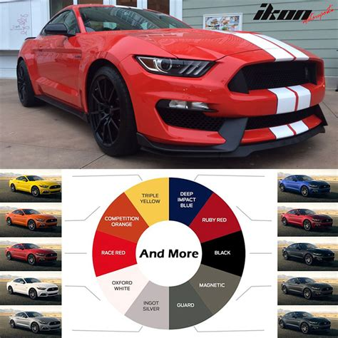 Wheels 2016 Ford Gt Race Orange 71 D2018 painted 15 16 for ford mustang gt350 style bumper conversion pp oe material ebay