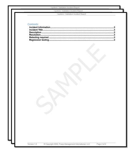 software incident report template software validation templates