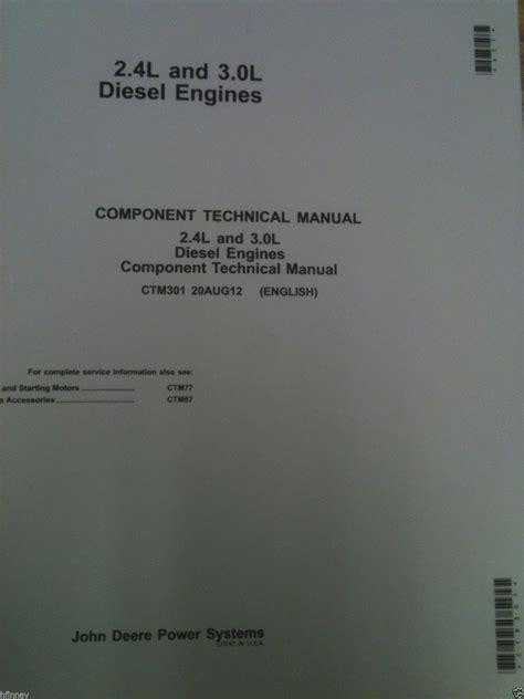 john deere    skid steer   powertech engine service manual ctm finney
