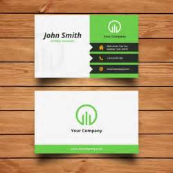 business card for free corporate green business card design vector free