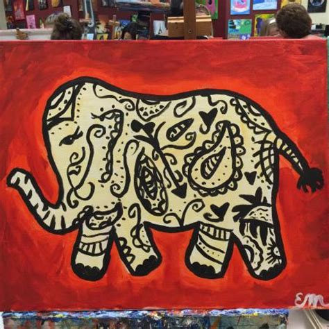 paint with a twist oviedo paisley elephant foto painting with a twist orlando