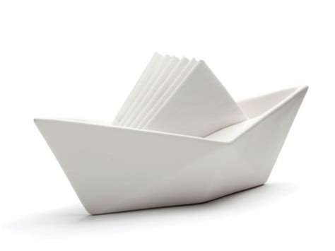 boat origami with napkins set sail a napkin holder that looks like a paper sailboat