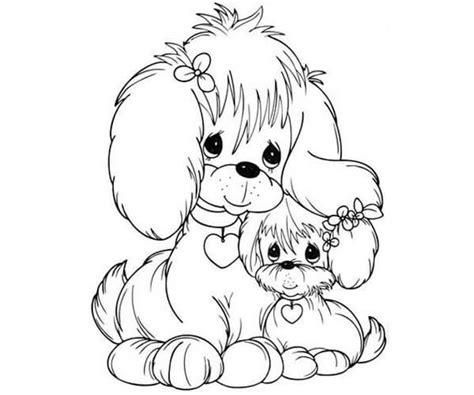 imagenes tiernas en blanco y negro 35 im 225 genes de perros para colorear e imprimir cancitos