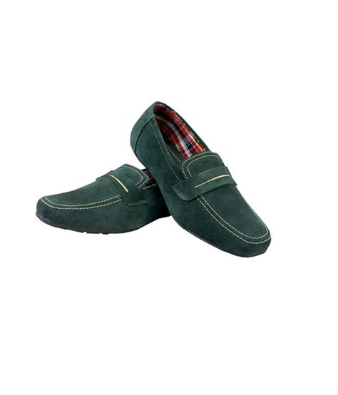 boysen s green leather lace formal shoes for price in