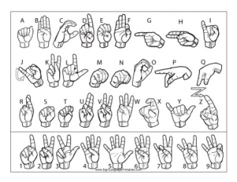 how to draw letters new sign language printables site 1298