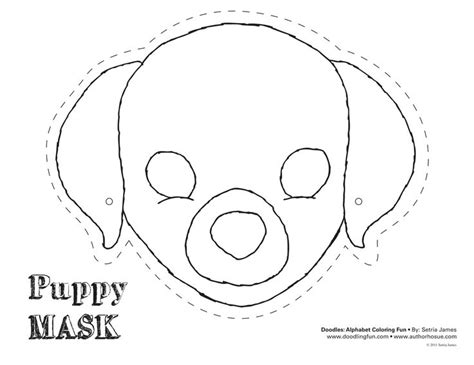 printable puppy mask puppy mask theatrics kiddos play craft coloring