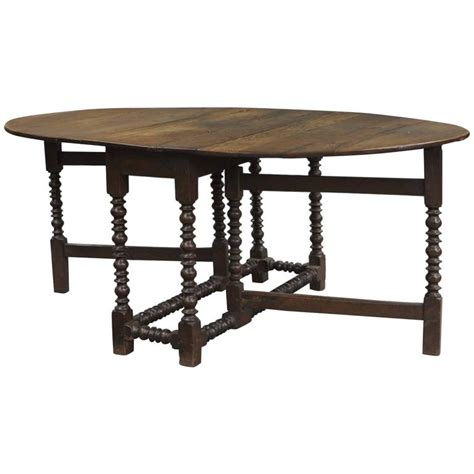 large 18th century english oak oval gateleg dining table for sale at 1stdibs