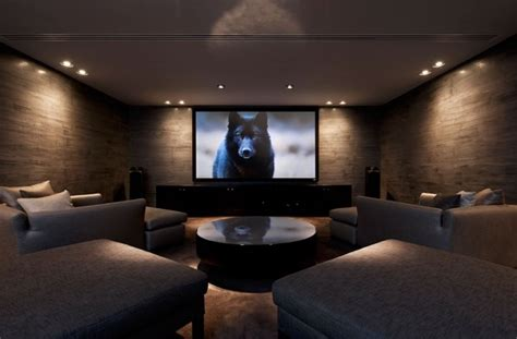 Screening Room Tastefully Decorated Modern Style Villas To Nature