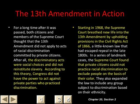 13th amendment section 2 chapter 20