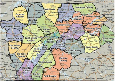map of east tennessee maps from easter surveying co