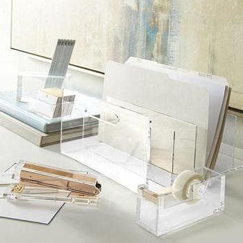 Lucite Desk Accessories And Hazel Acrylic Dispenser I Office Luxe