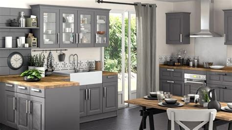 cuisine et grise cuisine grise et bois top cuisine