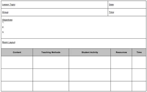 session plan template sle of lesson plan format page 2 new calendar
