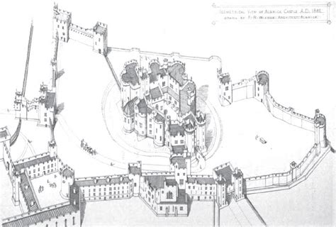 Map Of Hogwarts Castle All Floors by File Isometric View Of Alnwick Castle 1866 Jpg