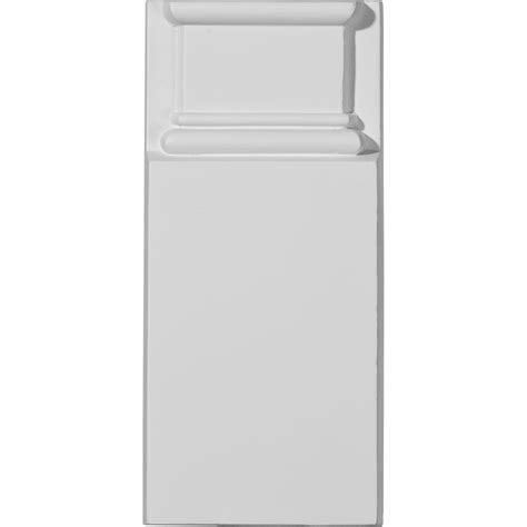 Ekena Millwork Plinth Block Primed Polyurethane