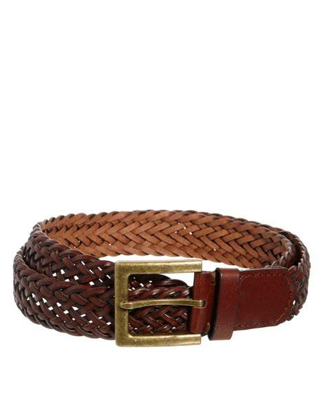 asos asos plaited leather belt at asos