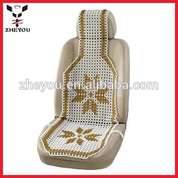 car marble bead seat gold pattern cooling marble bead car seat cushion