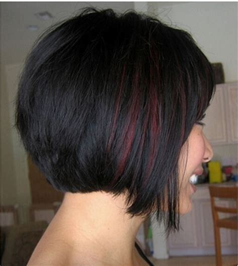 dark brown highlited bob sexy haircuts best 25 black hair red highlights ideas on pinterest