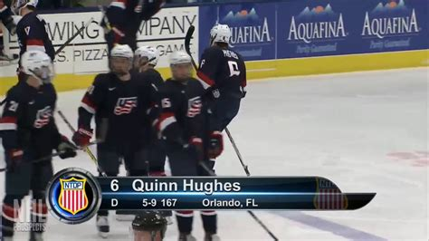 quinn hughes 1g vs gamblers jan 14 2017