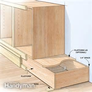 How To Build A Built In Cabinet Shortcuts For Custom Built Cabinets The Family Handyman