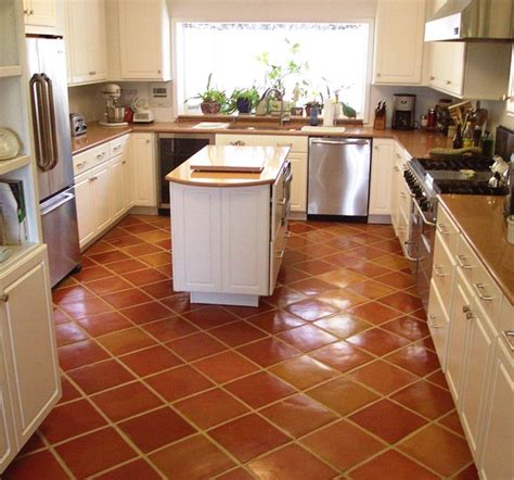 Tiled Kitchen Floors Saltillo Kitchen Floor Tile Kitchen By Rustico Tile And
