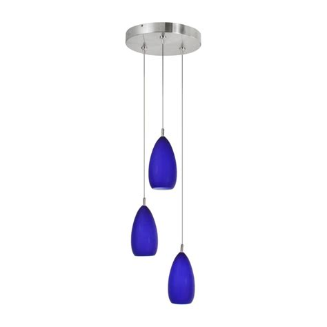 Cobalt Blue Pendant Lights Cobalt Blue Hanging Pendant Light Kitchen
