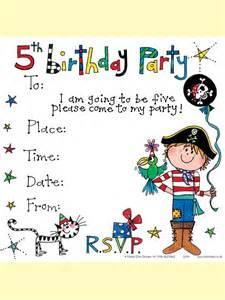 5th birthday invitation cards printable ss79 5th birthday invitation boy pirate social