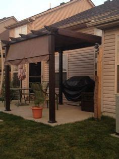 hton bay steel pergola hton bay 9 1 2 ft x 9 1 2 ft steel pergola with canopy gfm00467f at the home depot