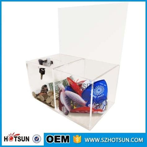 Acrilix Box Can Be Assembled acrylic made transparent box for collection