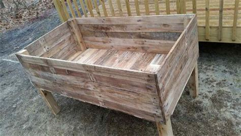 Pallet Planter Box Plans by Recycled Pallet Garden Planter Boxes Pallet Furniture Plans