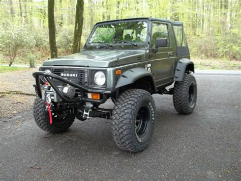 Modified Suzuki Sidekick Js3jc51c1h4142316 1987 Suzuki Samurai Fresh Build