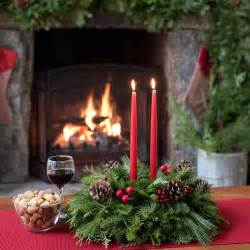 new england centerpiece fresh christmas table centerpiece