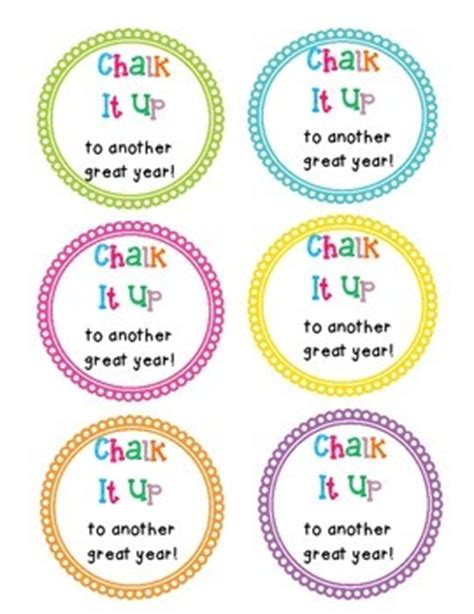 printable end of year gift tags end of the year gift tags chalk by ms rodriguez tpt