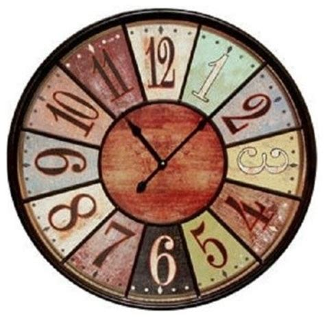 amazon com plumeet large number wall clock 13 silent non ticking amazon com jumbo tuscan wooden number wall clock extra