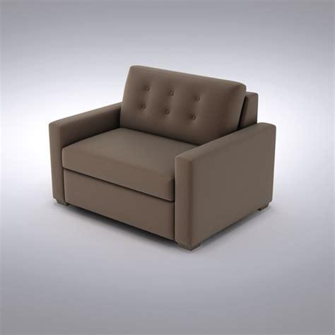 allerton sleeper sofa crate barrel sofa 3d model