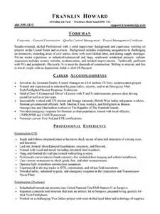 workalpha foreman resume electrical foreman resume best resume gallery