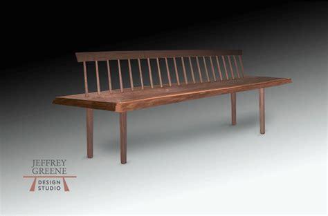 spindle back bench live edge spindle back bench series jeffrey greene