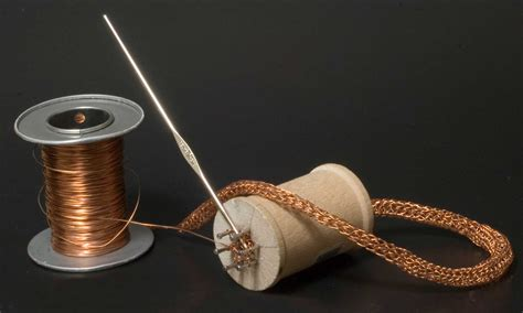 knitting spool make a wire knitting spool shoebox studio jewelry