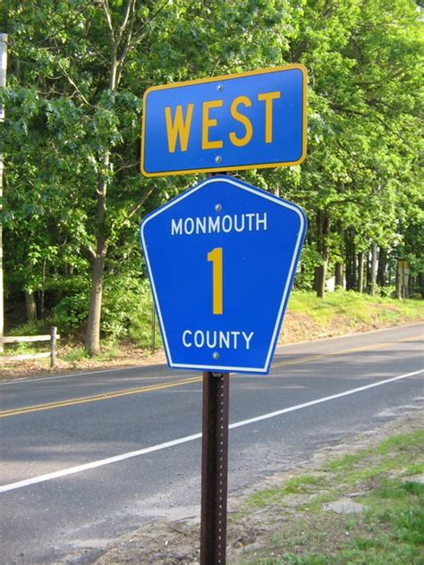 Monmouth County Search List Of County Routes In Monmouth County New Jersey
