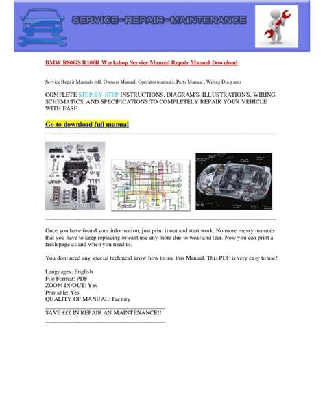service repair manual free download 2009 bmw 1 series parental controls bmw r80 gs r100r workshop service manual repair manual download