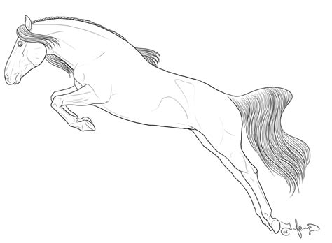 Coloring Pages Of Horses Jumping 4 jumping printable coloring sheet for